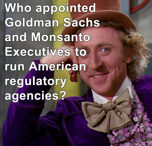 goldman sachs and monsanto in our government